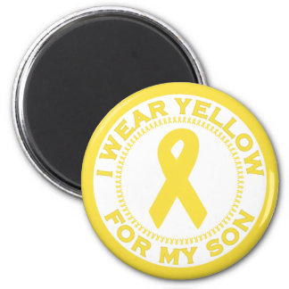 I Wear Yellow For My Son Refrigerator Magnet