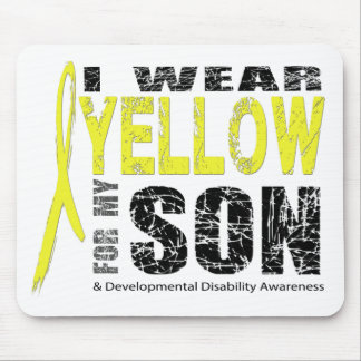 I wear yellow for my son mouse pad