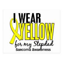 I Wear Yellow For My Stepdad 10 Sarcoma Postcard