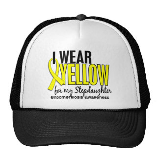 I Wear Yellow For My Stepdaughter 10 Endometriosis Trucker Hats