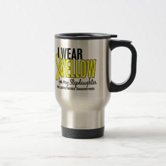 I Wear Yellow For My Stepdaughter 10 Endometriosis 15 Oz Stainless Steel Travel Mug