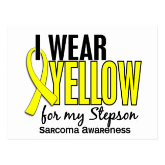 I Wear Yellow For My Stepson 10 Sarcoma Postcard