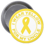 I Wear Yellow For My Uncle Pinback Button