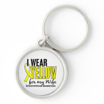 I Wear Yellow For My Wife 10 Endometriosis Keychain