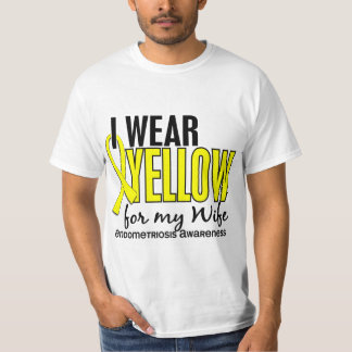 I Wear Yellow For My Wife 10 Endometriosis T-Shirt