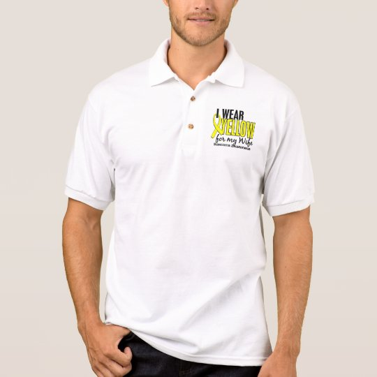 I Wear Yellow For My Wife 10 Sarcoma Polo Shirt