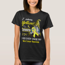I Wear Yellow For Someone Bone Cancer T-Shirt