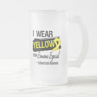 I Wear Yellow For Someone Special Endometriosis Frosted Beer Mugs