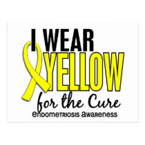 I Wear Yellow For The Cure 10 Endometriosis Postcard