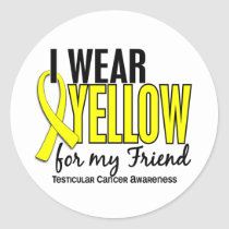 I Wear Yellow Friend 10 Testicular Cancer Classic Round Sticker