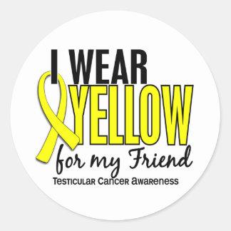 I Wear Yellow Friend 10 Testicular Cancer Classic Round Sticker