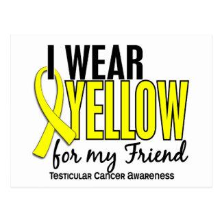 I Wear Yellow Friend 10 Testicular Cancer Postcard