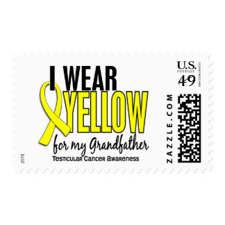 I Wear Yellow Grandfather 10 Testicular Cancer Postage