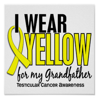 I Wear Yellow Grandfather 10 Testicular Cancer Print