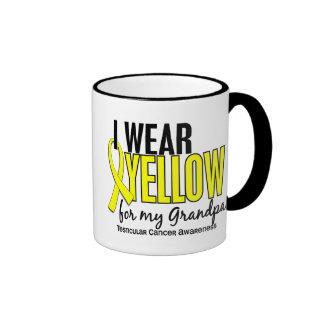 I Wear Yellow Grandpa 10 Testicular Cancer Ringer Coffee Mug