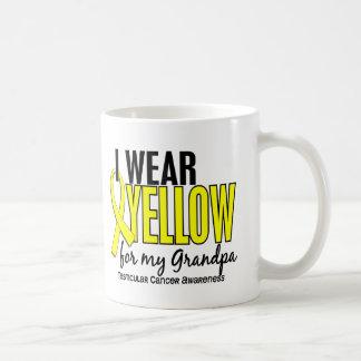 I Wear Yellow Grandpa 10 Testicular Cancer Classic White Coffee Mug