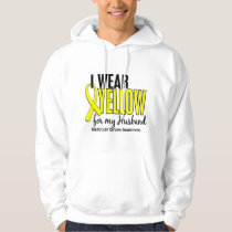 I Wear Yellow Husband 10 Testicular Cancer Hoodie