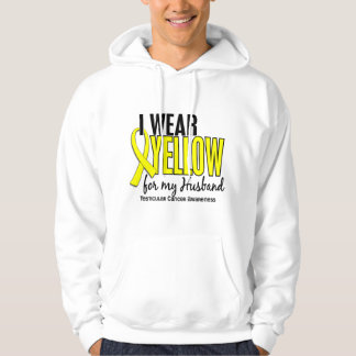 I Wear Yellow Husband 10 Testicular Cancer Hoodie