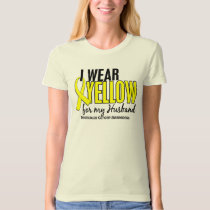I Wear Yellow Husband 10 Testicular Cancer T-Shirt