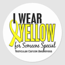 I Wear Yellow Someone Special 10 Testicular Cancer Classic Round Sticker