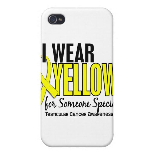 I Wear Yellow Someone Special 10 Testicular Cancer iPhone 4 Cover