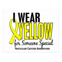 I Wear Yellow Someone Special 10 Testicular Cancer Postcard