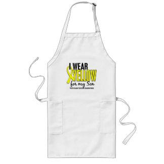 I Wear Yellow Son 10 Testicular Cancer Long Apron