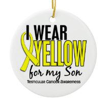 I Wear Yellow Son 10 Testicular Cancer Ceramic Ornament