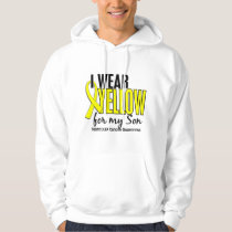 I Wear Yellow Son 10 Testicular Cancer Hoodie