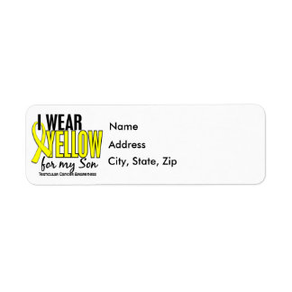 I Wear Yellow Son 10 Testicular Cancer Label