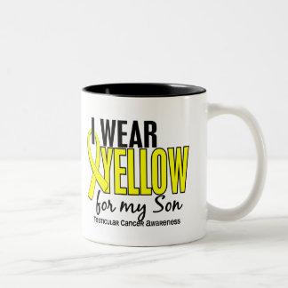 I Wear Yellow Son 10 Testicular Cancer Two-Tone Coffee Mug