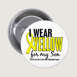 I Wear Yellow Son 10 Testicular Cancer Pinback Button