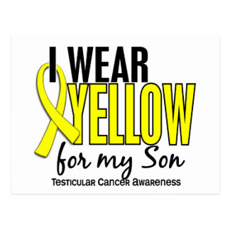 I Wear Yellow Son 10 Testicular Cancer Postcard
