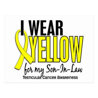 I Wear Yellow Son-In-Law 10 Testicular Cancer Postcard