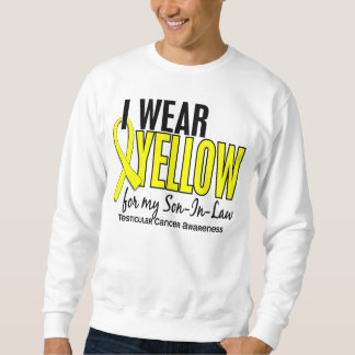 I Wear Yellow Son-In-Law 10 Testicular Cancer Sweatshirt