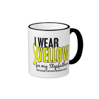 I Wear Yellow Stepfather 10 Testicular Cancer Ringer Coffee Mug