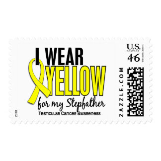 I Wear Yellow Stepfather 10 Testicular Cancer Postage