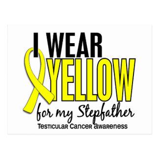 I Wear Yellow Stepfather 10 Testicular Cancer Postcard