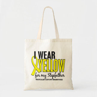 I Wear Yellow Stepfather 10 Testicular Cancer Tote Bag