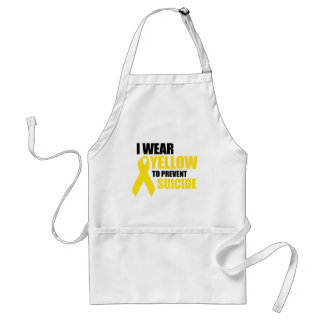 I wear yellow to prevent suicide apron