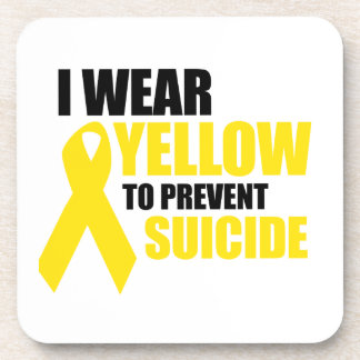 I wear yellow to prevent suicide beverage coasters