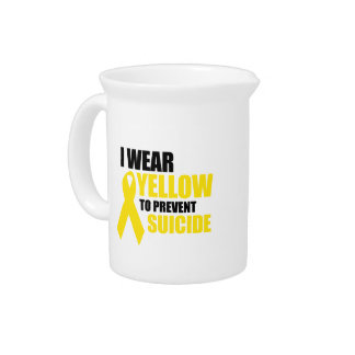 I wear yellow to prevent suicide beverage pitchers