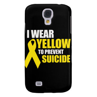 I wear yellow to prevent suicide - galaxy s4 covers