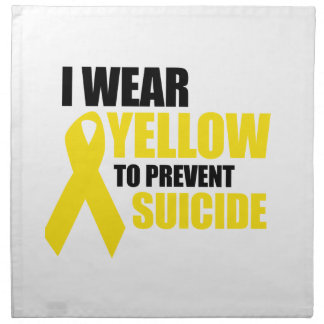 I wear yellow to prevent suicide cloth napkin