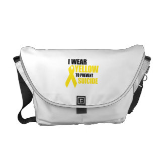 I wear yellow to prevent suicide commuter bag