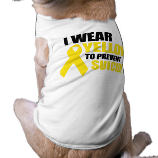 I wear yellow to prevent suicide dog clothes