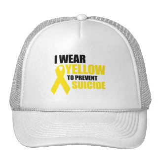 I wear yellow to prevent suicide hats