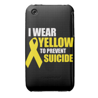 I wear yellow to prevent suicide - iPhone 3 case