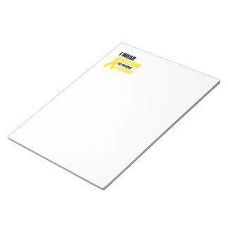 I wear yellow to prevent suicide memo pad