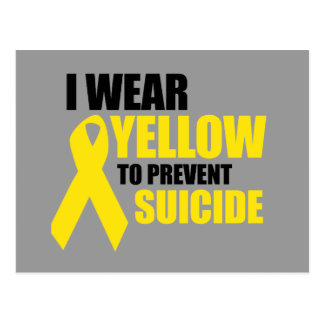I wear yellow to prevent suicide postcard